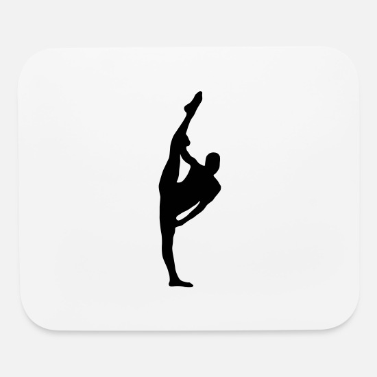 Opera Mouse Pads - Vector Ballet dancer Silhouette - Mouse Pad white