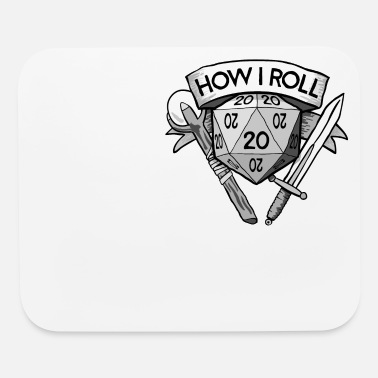 Vampire &amp This Is How I Roll d20 - Mouse Pad