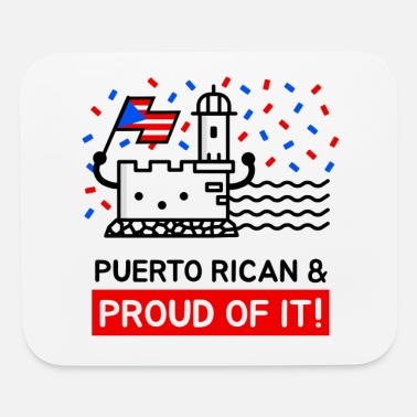 Del Castillo Puerto Rican and Proud Of It - Mouse Pad