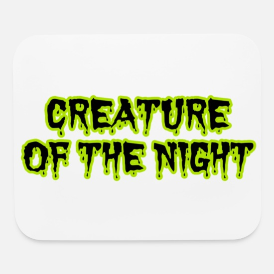 Horror Mouse Pads - CREATURE OF THE NIGHT - Mouse Pad white