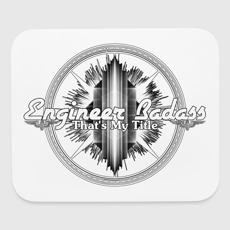 Engineer Badass Mens T-Shirt - Mouse pad Horizontal