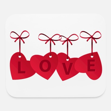 Love With Heart LOVE WITH HEARTS - Mouse Pad