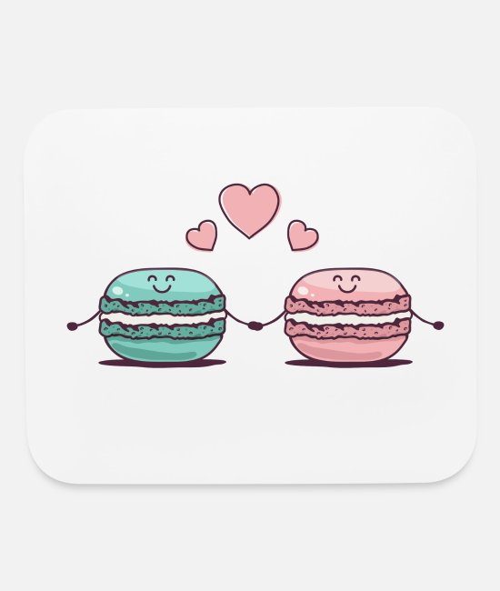 Hands Mouse Pads - Macarons Couple - Mouse Pad white