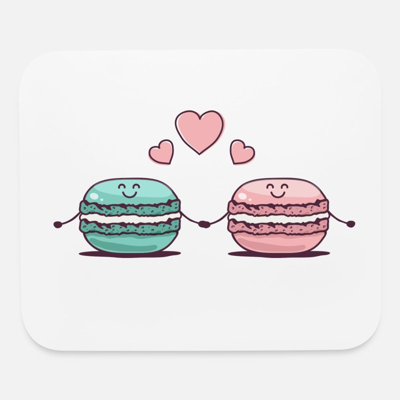 Couples Mousepads  - Macarons Couple - Mouse Pad white