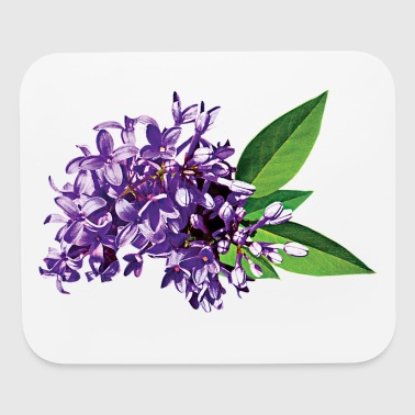 Cluster of Purple Lilacs - Mouse pad Horizontal