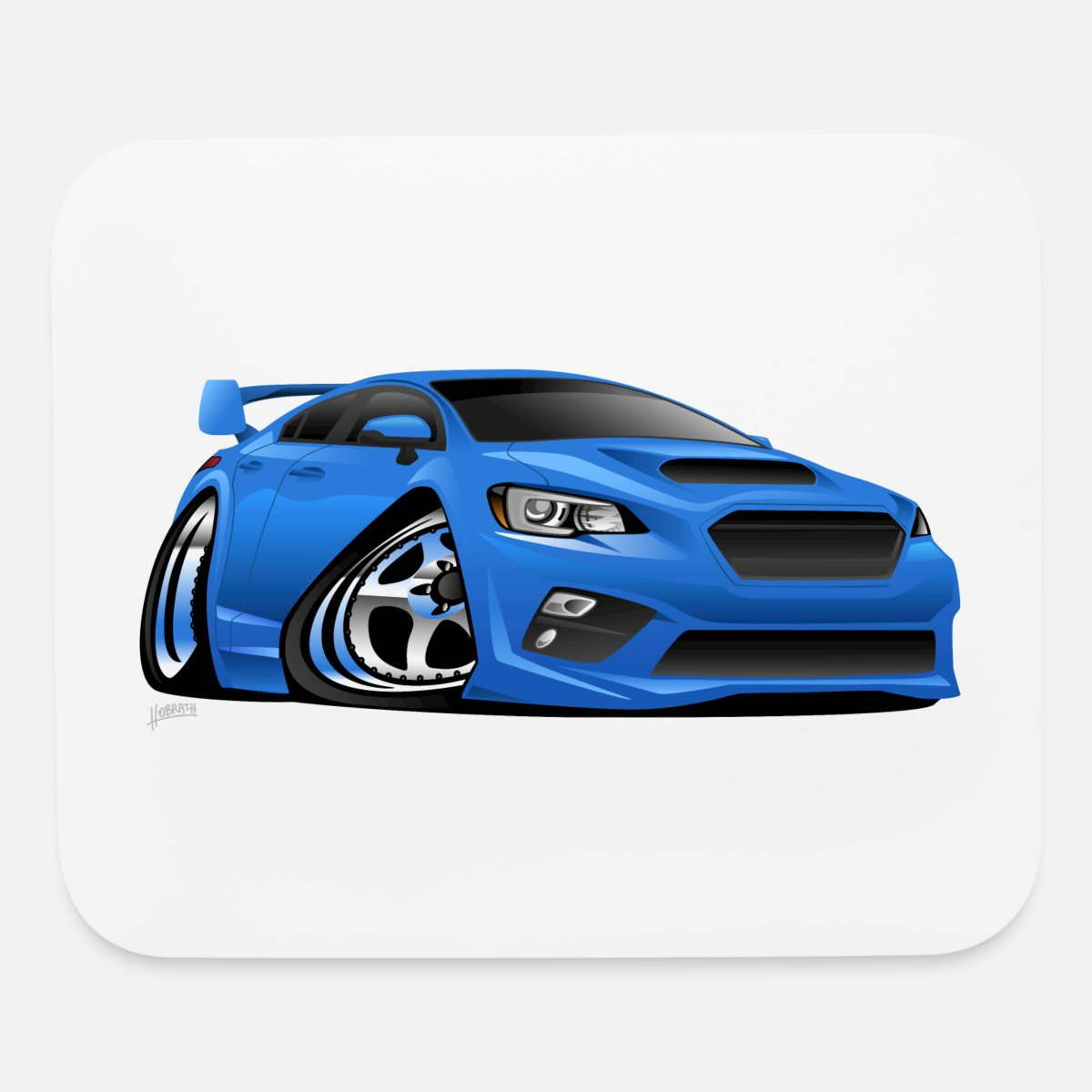 Mouse padmodern import sports car cartoon illustration