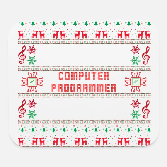 Computer Game Mouse Pads - Merry Christmas - Mouse Pad white