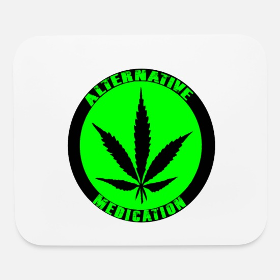 Hemp Mouse Pads - Alternative Medication - Mouse Pad white