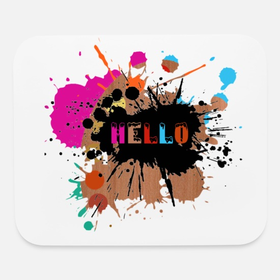 Established Mouse Pads - hello - Mouse Pad white