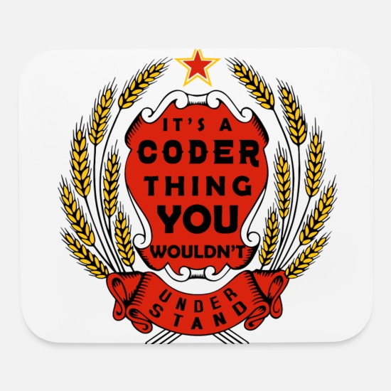 Coder Mouse Pads - Coder thing - Mouse Pad white