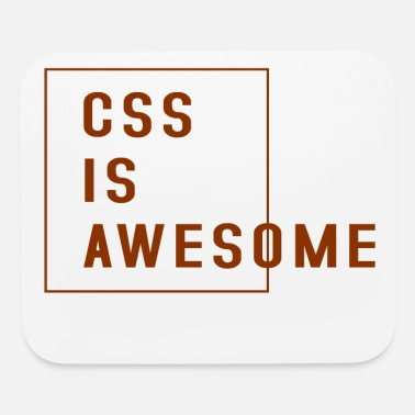 Development css is awesome brown - Mouse Pad
