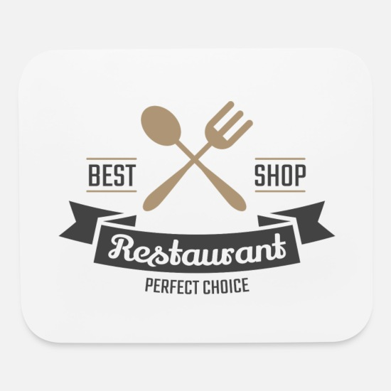 Birthday Mouse Pads - Vintage Perfect Restaurant Logo - Mouse Pad white