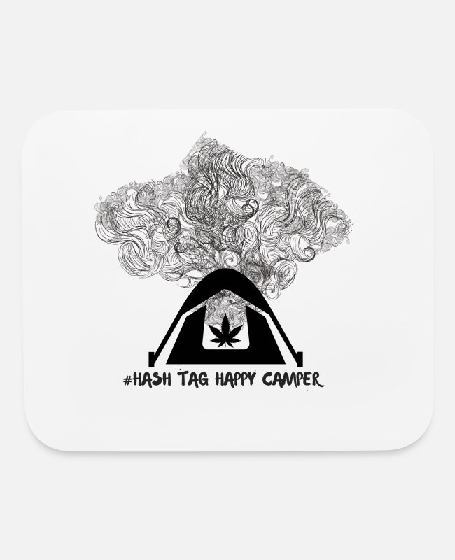 Happy Holidays Mouse Pads - Hash Tag Happy Camper - Mouse Pad white