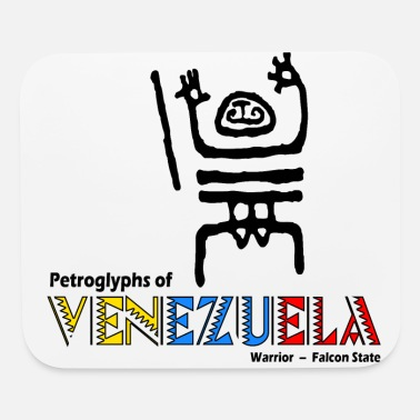 Falcon State Petroglyphs of Venezuela - Warrior Falcon State - Mouse Pad