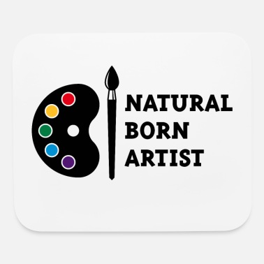 Painters-palette Paintbrush Natural Born Artist (PNG) - Mouse Pad