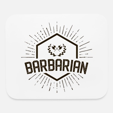 Rpg Barbarian Emblem Tabletop RPG Character Class - Mouse Pad