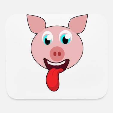 Naughty pig funny gift - Mouse Pad