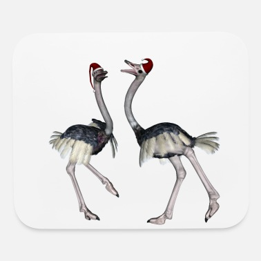 Christmas Dancing for christmas, cute ostrich - Mouse Pad