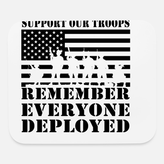 Remember Mouse Pads - RED Friday Remember Everyone Deployed - Mouse Pad white