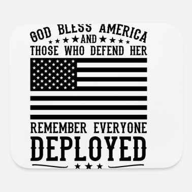 Until They All Come Home RED Friday God Bless America And Those Who Defend Her blk - Mouse Pad
