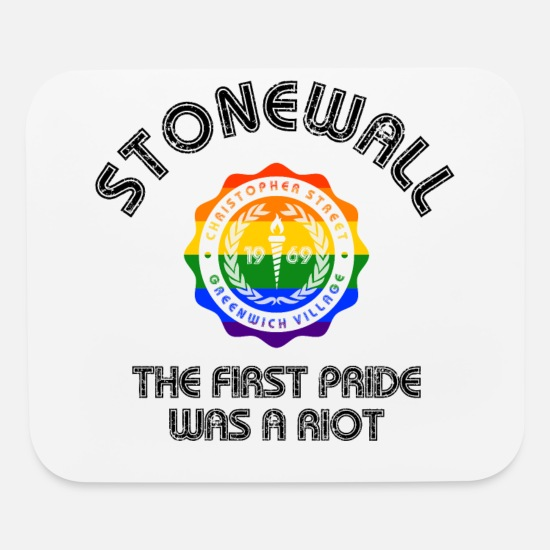Gay Pride Mouse Pads - Stonewall NYC LGBT Gay Pride Riot CSD Equality - Mouse Pad white