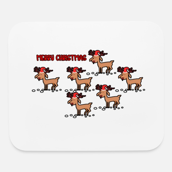 Stag Mouse Pads - Christmas Bithday B-Day bday BDay X-Mas XMAS xmas - Mouse Pad white