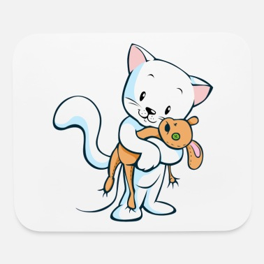 Toy Cat with toy - Mouse Pad