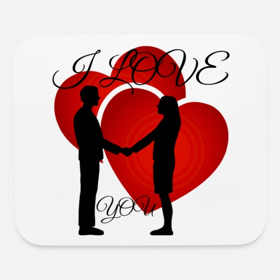 Love Mouse Pads - I love you - Mouse Pad white