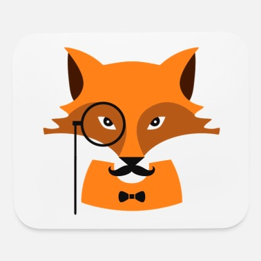 Monocle Fox with monocle - Mouse Pad