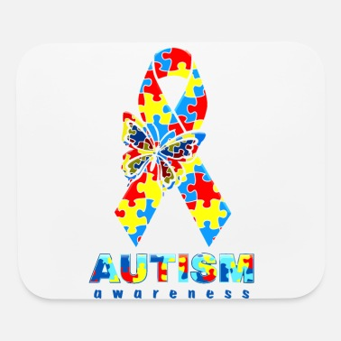 Day Autism Awareness Day - Autism Awareness Ribbon - Mouse Pad