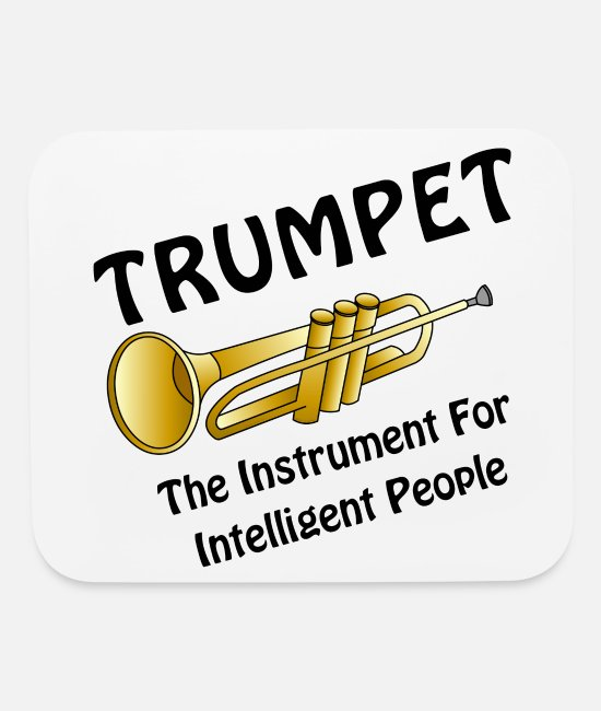 Jazz Mouse Pads - Intelligent Trumpet - Mouse Pad white