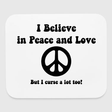 Peace and Love - Mouse pad Horizontal