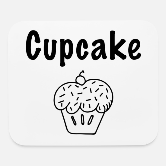 Birthday Mouse Pads - Cupcake - Mouse Pad white