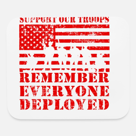 Until They All Come Home Mouse Pads - RED Friday Until Everyone Comes Home - Mouse Pad white