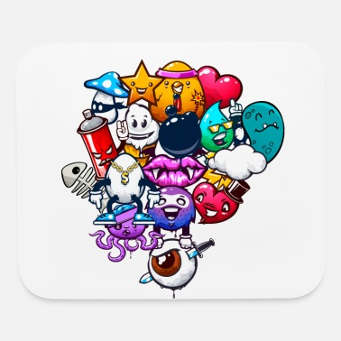 Explosion graffitis Funny cartoon game shirt - Mouse Pad