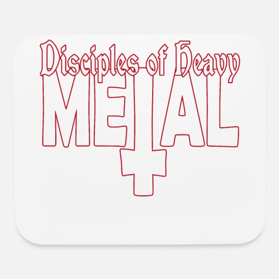 Guitar Mouse Pads - Disciples of Metal - Mouse Pad white