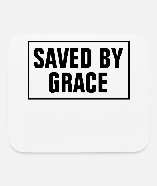 Word Mouse Pads - Saved By Grace - Christian - Mouse Pad white