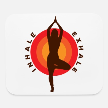 Yoga Inhale Exhale One Leg Stand Pose Cool Gift - Mouse Pad