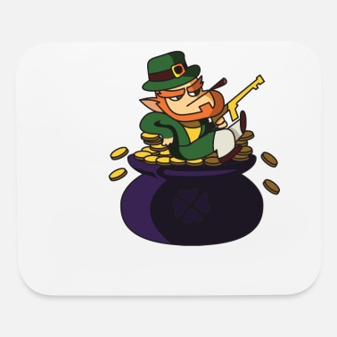 leprechaun st patricks day gangster - Mouse Pad