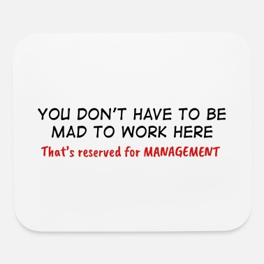 You Don't Have To Be Mad - Mouse pad Horizontal