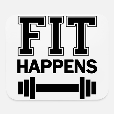 Funny Fitness Fit happens - funny Fitness quote - Mouse Pad