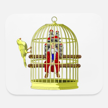 Caged CAGED KING - RULER IN A GOLDEN CAGE - Mouse Pad
