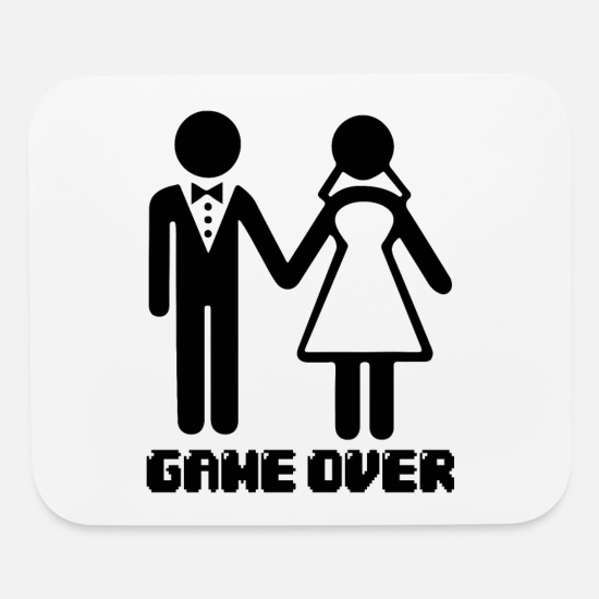 2babc3c463 Bride Mouse Pads - Game Over After Marriage Funny Wedding Gaming - Mouse  Pad white