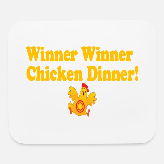 Chicken Mouse Pads - Winner Winner Chicken Dinner - Mouse Pad white