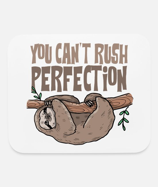 Lazy Mouse Pads - Cute Lazy Sloth | Sloth Memes | Cute Little Sloth - Mouse Pad white