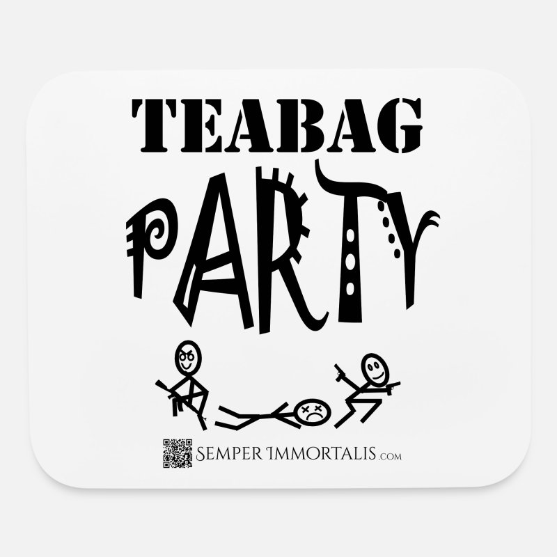 Gamer Mousepads  - Teabag Party (black) - Mouse Pad white