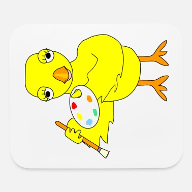 Painters-palette Paintbrush Art Chick - Mouse Pad