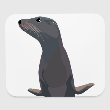 sealion half - Mouse pad Horizontal