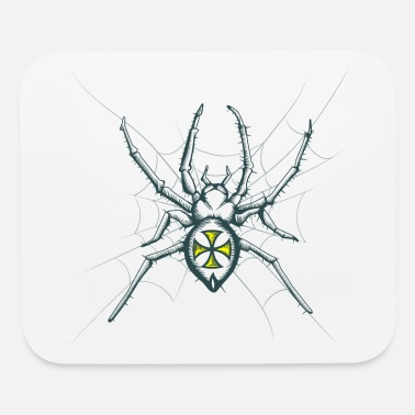 Spider Spider, Cross, web, spider web - Mouse Pad