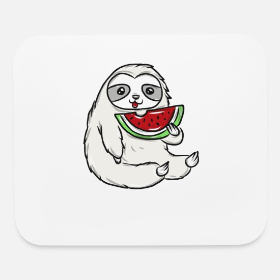 Sloth Mouse Pads - Sloth - Mouse Pad white